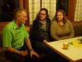 Unser Landesgartenfachberater im Gespräch mit 2 künftigen Gartenberaterinnen